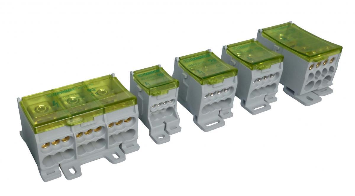 Verteilerklemmen, Kompaktverteiler, Monoblockverteiler bis zu 500 A ...