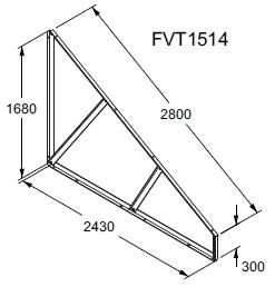 sicherung sonnenkollektoren doppel dreiecke mit bohrungen f r die befestigung sonnenkollektoren. Black Bedroom Furniture Sets. Home Design Ideas